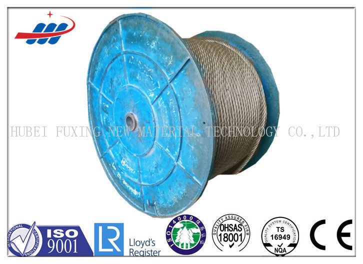Uncoated Steel Crane Wire Rope 36x7+FC With 1570-1960MPA Strength