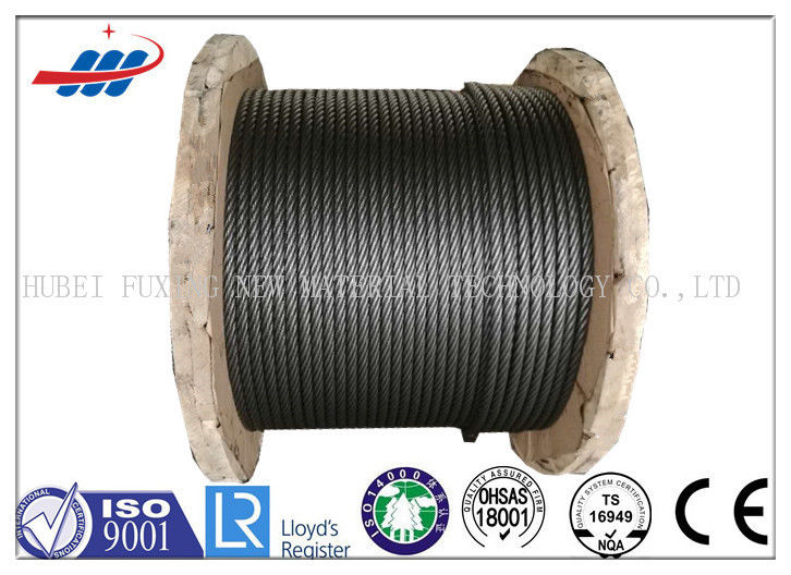 Bright Steel High Strength Wire Rope For Speed Limiter , Right / Left Lay Wire Rope